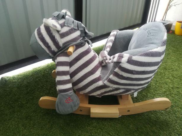 Bujak zebra pluszowy z siedziskiem