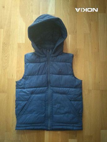 2Жилет для мальчика синего цвета Benetton, размер XL+ ПОДАРОК!
