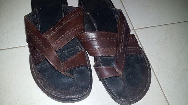 Sandálias Pele Homem 40