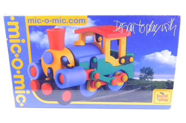 mic o mic конструктор поезд + игровой коврик железная дорога