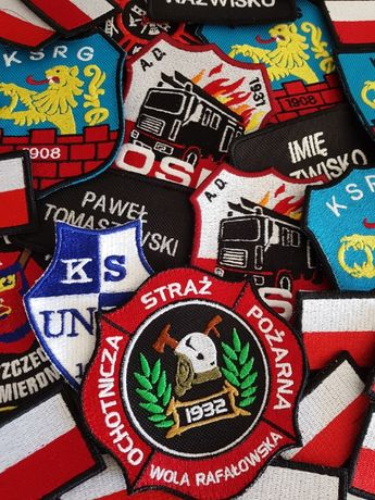 HAFT NASZYWKA OSP STRAŻ odzież z haftem POLA bluza z haftem NADRUKS
