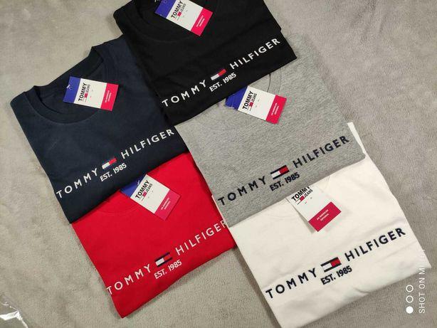 Męska koszulka bawełna tommy hilfiger TH jeans wyszywana S-XXL