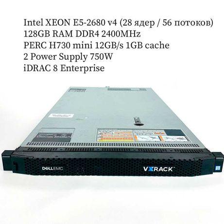 НОВЫЙ Сервер Dell EMC R630 10SFF /2x E5-2680v4 /128GB/PERC H730 1GB