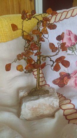 Drzewko szczęścia bursztyn