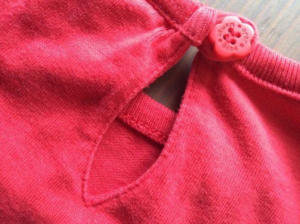 Bluzeczka marki: JoJo Maman Bebe, 6-12 m-cy, logo firmy na guziku