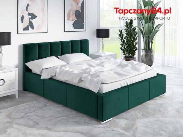 Łóżko sypialniane tapicerowane Łoże Zoe małżeńskie +POJEMNIK +Stelaż