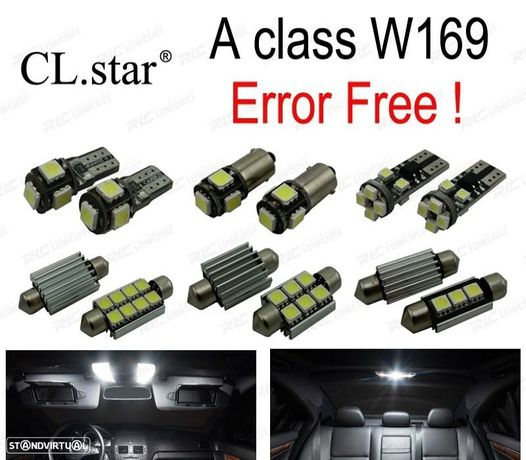 KIT COMPLETO DE 14 LÂMPADAS LED INTERIOR PARA MERCEDES-BENZ CLASE B W245 B150 B160 B170 B180 B200 0