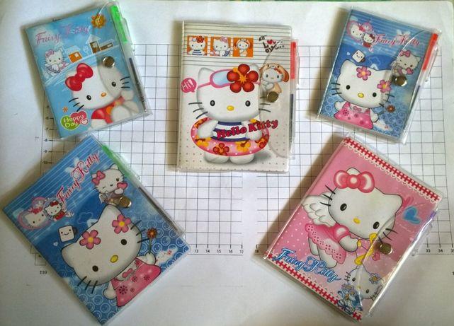 Детские блокноты Hello Kitty с ручками, 60/72 л, линия (цена за все)