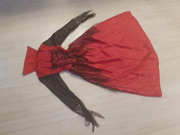 dama dworu zła królowa czarodziejka strój diablicy czarownica 847