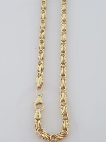 Złoty łańcuszek o splocie Królewskim 11,7g Dł. 50cm Próba 585.Nowy 174