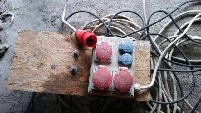 Przedłużacz kabel budowlany