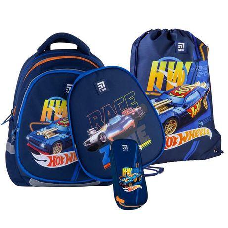 Школьный набор рюкзак + пенал + сумка Kite Hot Wheels HW21-700M(2p)