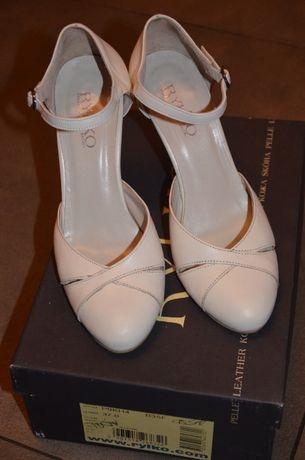 Skórzane buty ślubne Ryłko r.37