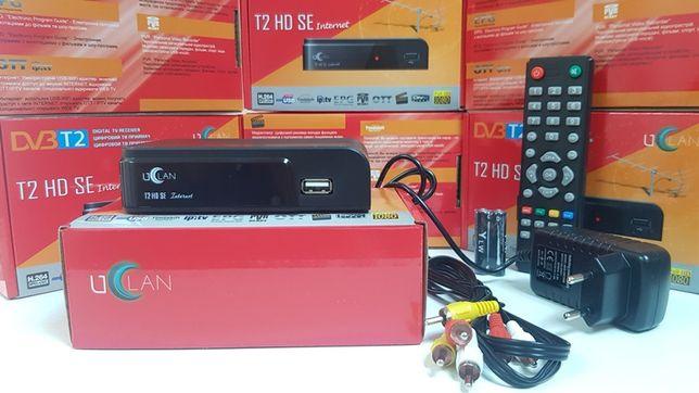 НОВЫЕ тюнер т2 ресивер приставка декодер U2C Uclan T2 HD SE DVB-C