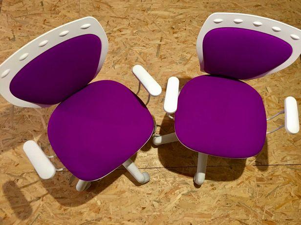 Krzesło obrotowe Ministyle GPT dwie sztuki - fioletowa tapicerka