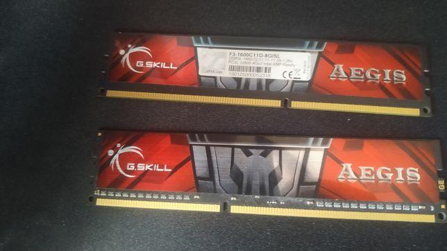 G.SKILL Aegis DDR3 8gb 1600 две планки
