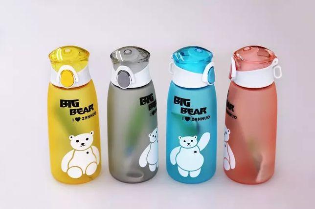 Мультяшна спортива пляшка для води Flamberg Big Bear 500 мл