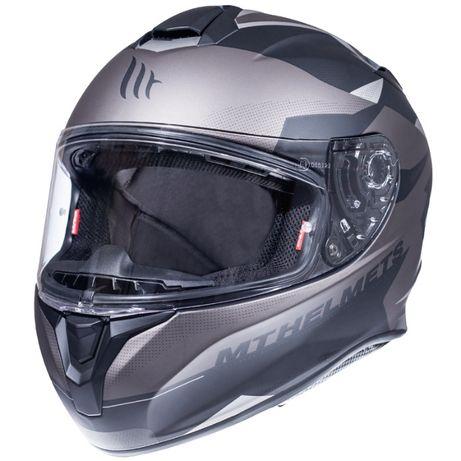 Kask integralny MT Helmets TARGO ENJOY szaro czarny mat rozm. XS - 2XL