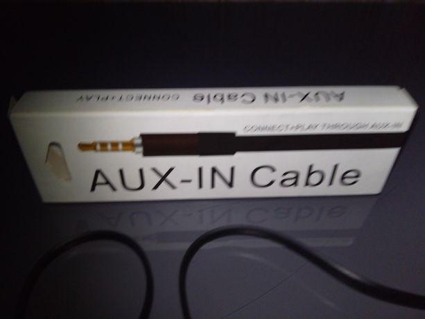 Kabel AUX do gniazda samochodu lub stereo. NOWY-okazja! + Extra!
