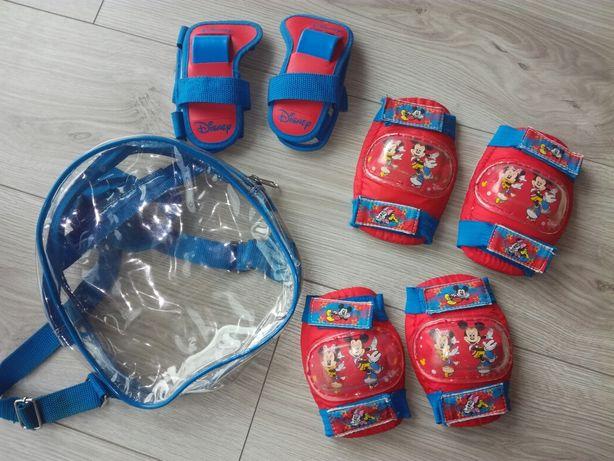 Ochraniacze dziecięce na rower rolki gratis plecak Miki Minnie