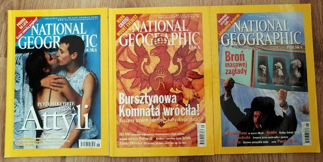 National Geographic Polska 1/2003, 5/2003, 6/2005