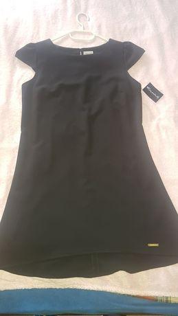 Sukienka czarna trapezowa