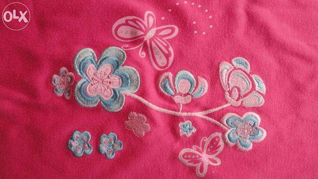 Кофточка розовая с вышивкой от 4.5 лет