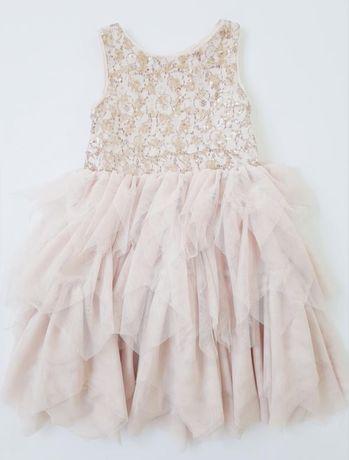 Шикарное нарядное платье с пайетками h&m 2-3 года