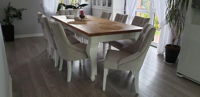 Krzesło glamour pikowane tapicerowane z kołatką ćwiekami welur