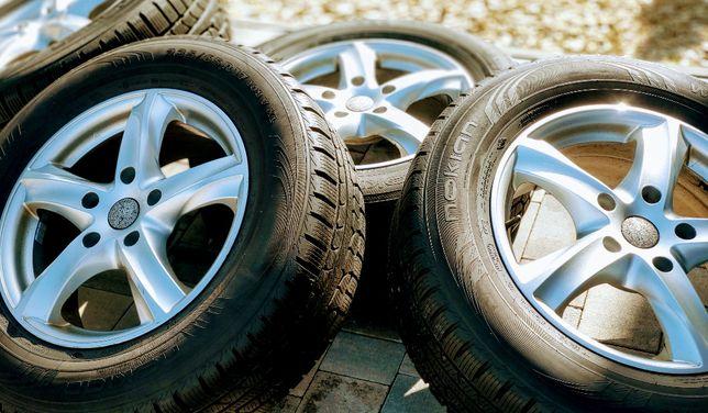 Koła do VW Tuareg, Audi Q itp. ET50,śruby rozstaw 130 mm, opony zima.