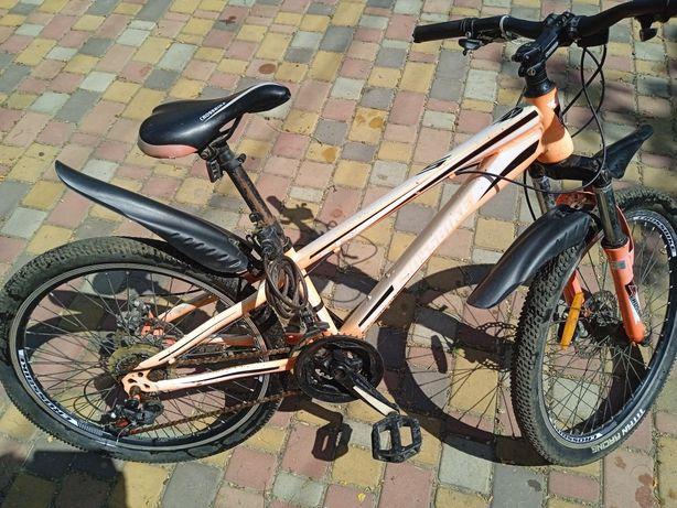 Продам велосипед б/у подростковый розовый Crossbike
