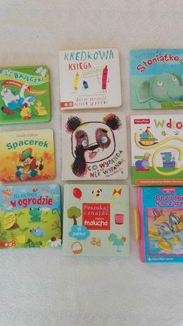 Książeczki, zestaw dla dzieci, z okienkami,Fisher,puzzle,zielona sowa