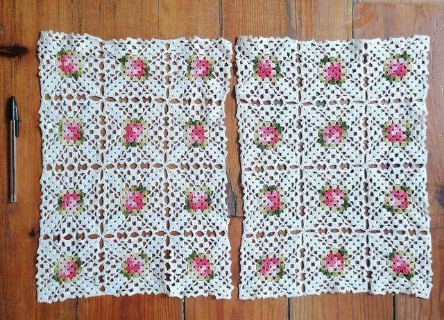 Conjunto de naperons em crochet