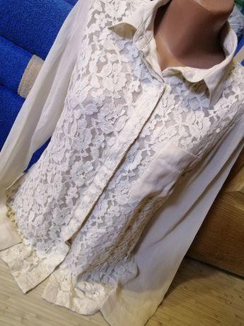 Гипюровая рубашка блузка р. С-М