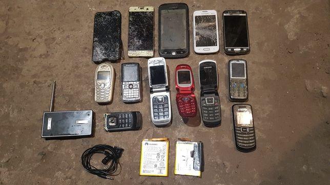 Телефоны рабочие и полурабочие.