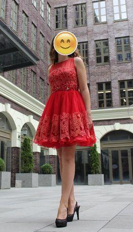 Красное вечернее платье Sherri Hill, оригинал