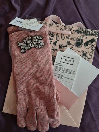 Nowe przepiękne rękawiczki Tous - certyfikat + gratis