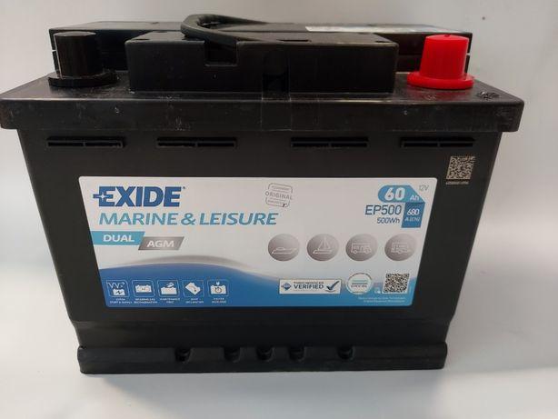 Akumulator do łodzi 12V Exide DUAL AGM 60Ah 680A EP500