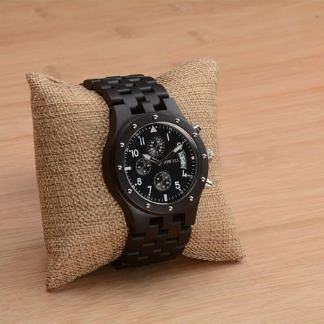 Zegarek drewniany Bewell na bransolecie. Chronograf, Gwarancja. Firma