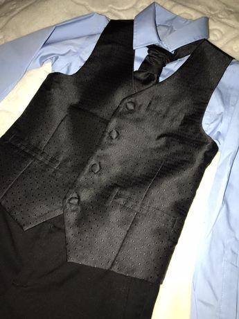 Штани ,желетка,рубашка,галстук Next ,H&M 6-7 лет,для школи,в идеале