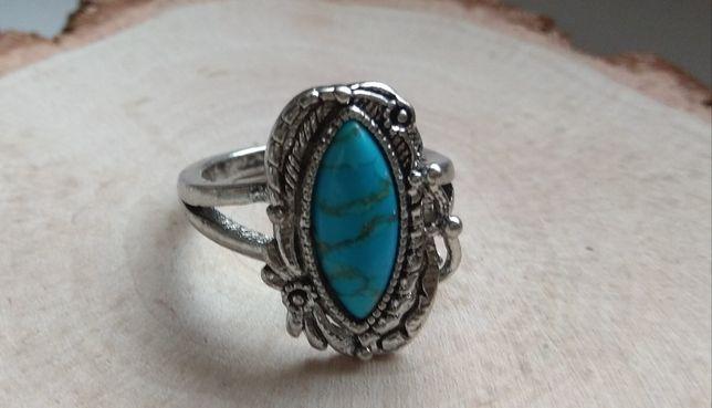 Ładny duży pierścionek rozmiar 20