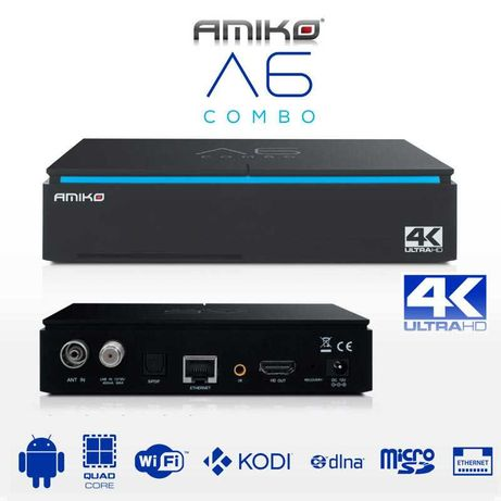 Amiko A6 Combo Android A6 IPTV Sat Cabo