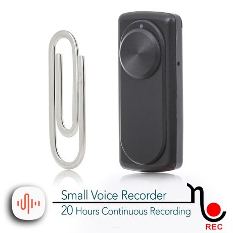 Podsłuch. Mini dyktafon szpiegowski Nanorec - 20 godz. nagrywania