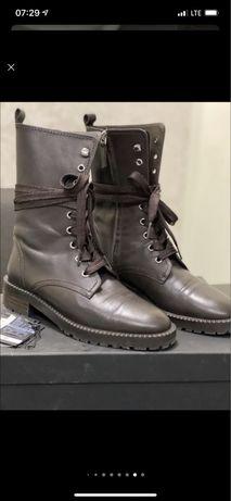 Кожаные ботинки Massimo Dutty, 37 размер