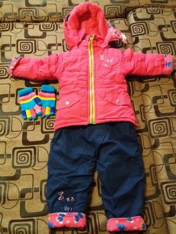 Зимний комбинезон для девочки 1.5 года