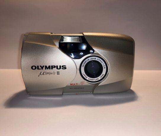 Olympus Mju ii мю 2, пленочный фотоаппарат, мыльница
