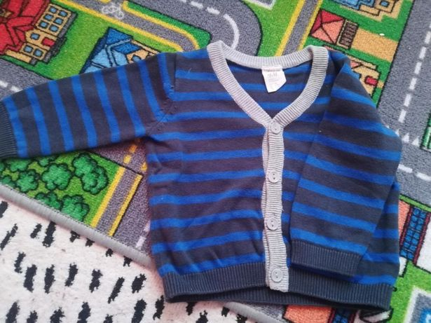 H&M r.68 paski stan idealny sweterek