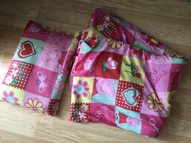 Комплект в детскую кроватку пододеяльник, одеяло Свинка Пеппа