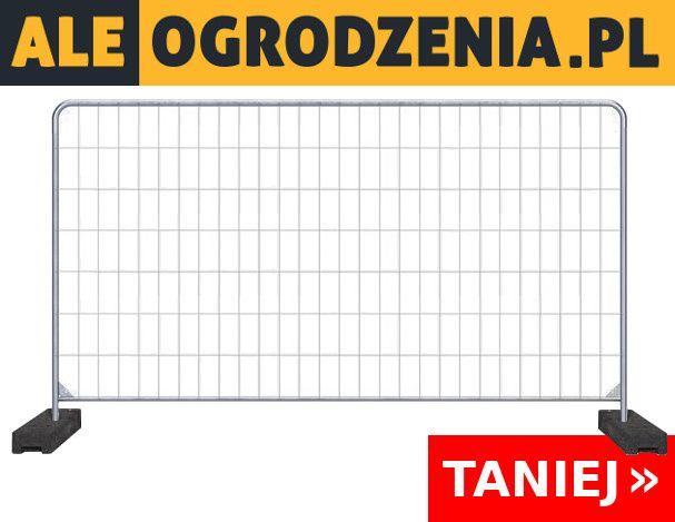 Ogrodzenie Owalne Tymczasowe/Budowlane Ażurowe KOMPLET Śląsk Katowice - image 1