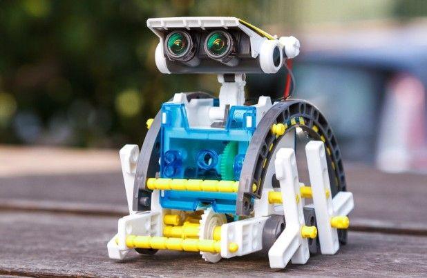 два уровня, конструктор 14в1 моделей / Робот, на солнечной энергии /